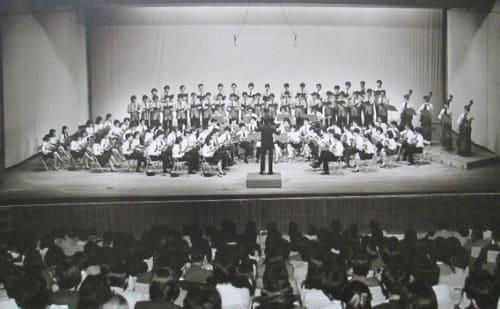 1971年7月 札教大マンドリンクラブと初のジョイントコンサート(賛助出演グリークラブ)