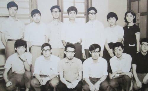 1968年夏 プレクトラムギターアンサンブル時代 W620番教室にて